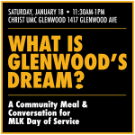 MLK Day of Service hosted by UNCG and Christ United Methodist Church Glenwood